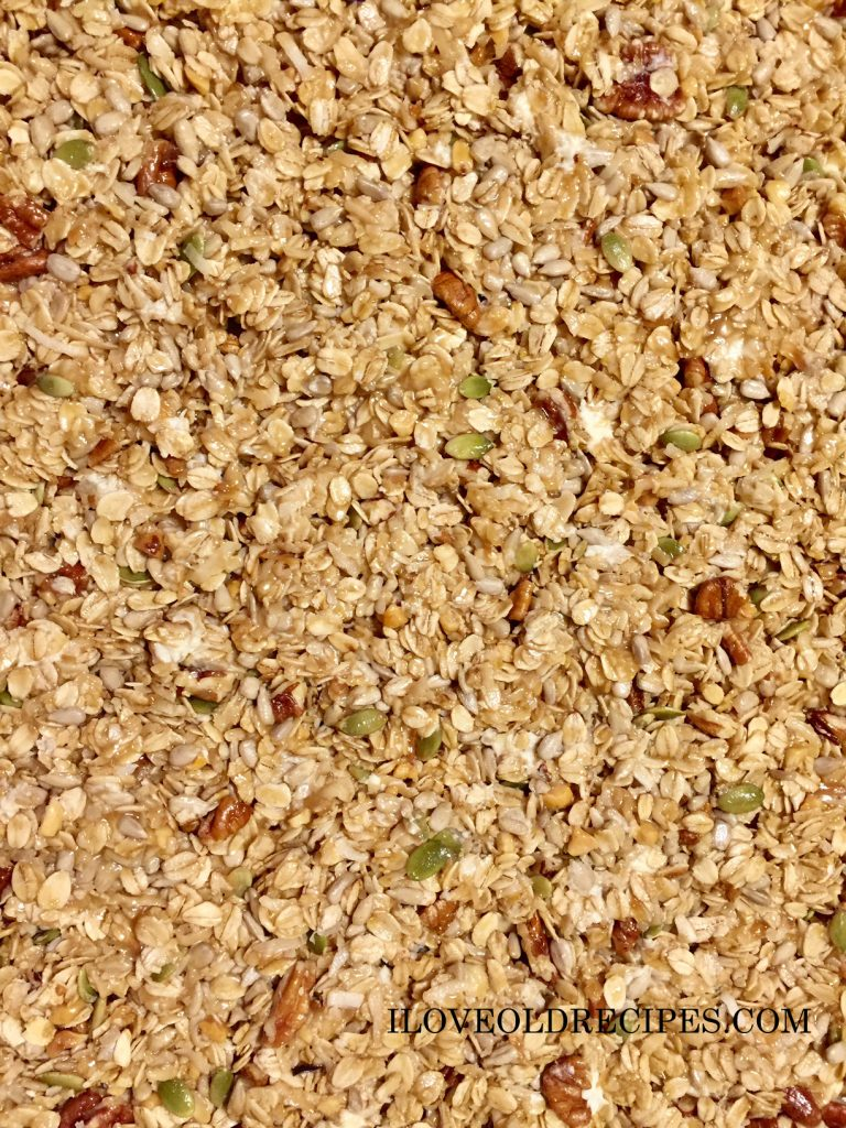 GRANOLA BARS BEFORE BEING BAKED